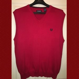 Chaps Red Knit Sweater Vest